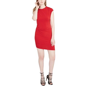 Rachel Roy Side Drape Dress in Carmine Red