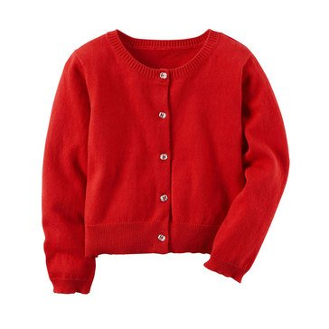 Carter's Little Girls' Cardigan Sweater, Red