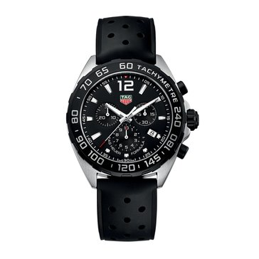 Tag Heuer Men's Formula-1 Black/Black Rubber Chronograph Watch, 43mm