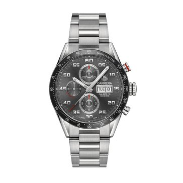 Tag Heuer Men's Carrera Watch CV2A1U.BA0738, Stainless Steel Bracelet 43mm