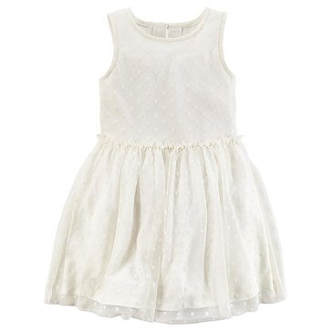 Carter's Little Girls' Holiday Swiss Dot Tulle Dress