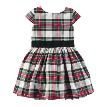 Carter's Little Girls' Holiday Plaid Sateen Dress