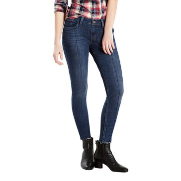 Levi's Women's 535 Styled Super Skinny Reversed Blues Dark