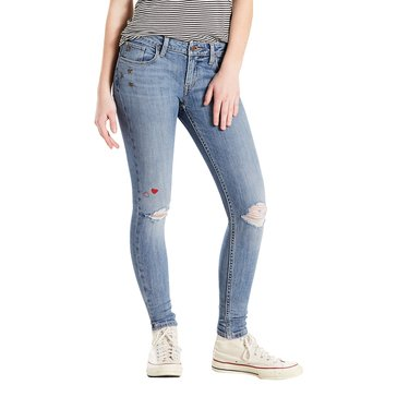 Levi's Women's 535 Styled Super Skinny Favorite Blue Jean Medium