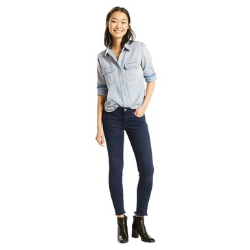 Levi's Women's 711 Skinny 5 Pocket Jeans in Bangkok Bound Dark