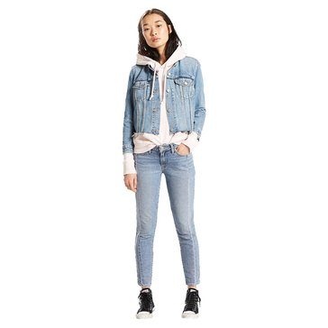 Levi's Women's 711 Seamed Mended Skinny On My Mind Light