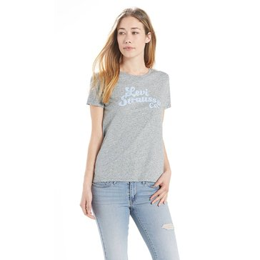 Levi's Women's Short Sleeve Perfect Graphic Tee Levi Strauss Smokestack Heather