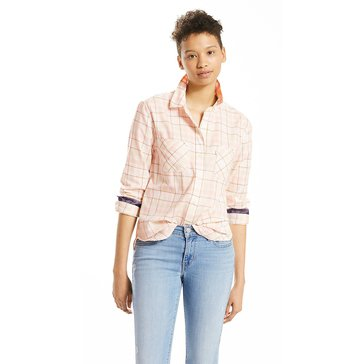 Levi's Women's Good Workwear Boyfriend Shirt in Sugarcane Safari