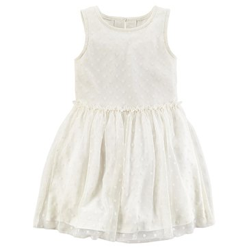 Carter's Toddler Girls' Holiday Swiss Dot Tulle Dress