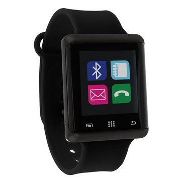 iTouch Unisex Air Silver Tone/Black Smart Watch, 45mm