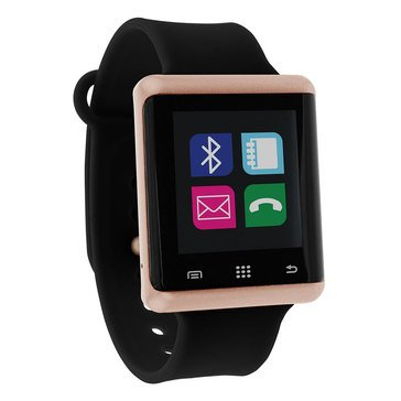 iTouch Unisex Air Rose Gold Tone/ Black Smartwatch, 45mm
