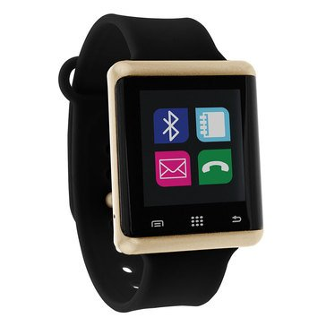 iTouch Unisex Air Gold/Black Smart Watch, 45mm