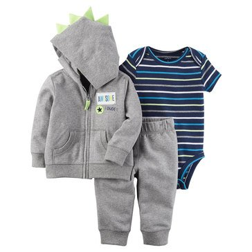 Carter's Baby Boys' 3-Piece Cardigan Set, Spike