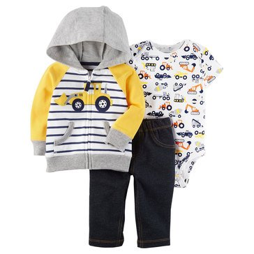 Carter's Baby Boys' 3-Piece Cardigan Set, Construction