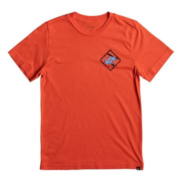 Quiksilver Big Boys' 80 Prism Tee, Red