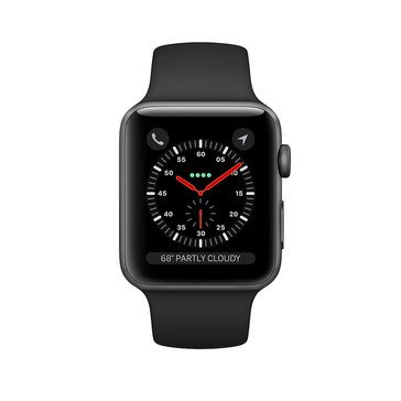 Apple Watch Series 3 GPS, 42mm, Space Gray Aluminum Case with Black Sport Band