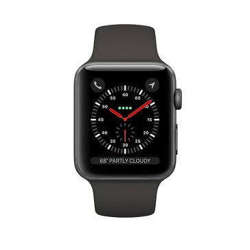 Apple Watch Series 3 GPS, 42mm, Space Gray Aluminum Case with Gray Sport Band