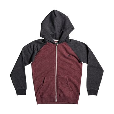 Quiksilver Big Boys' Everyday Zip Hoodie, Burgundy