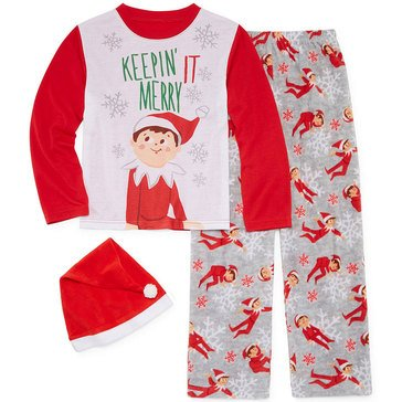 Briefly Stated Elf on the Shelf Family PJs Big Kid Set