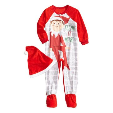 Briefly Stated Elf on the Shelf Family PJs Toddler Onesie
