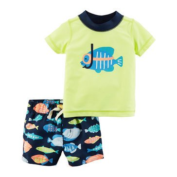 Carter's Baby Boys' 2-Piece Swimwear Set, Fish