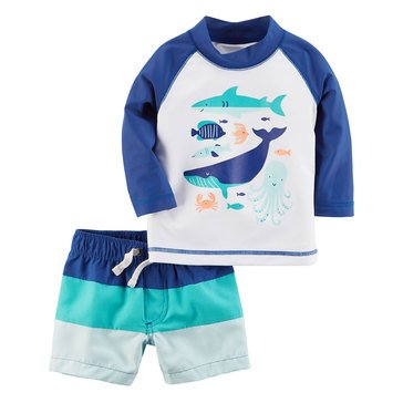 Carter's Baby Boys' 2-Piece Swimwear Set, Shark