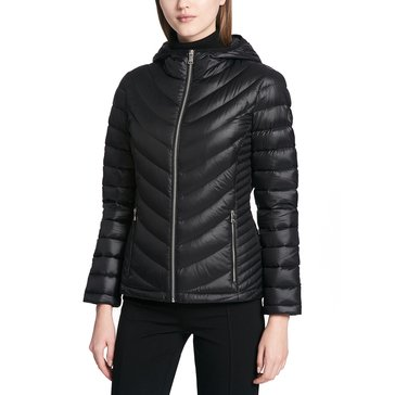 Calvin Klein Women's Packable Down Coat with Hood