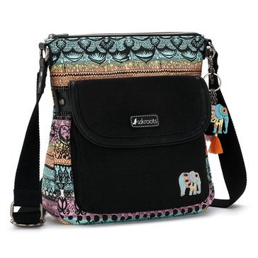 Sakroots Flap Crossbody Sherbet One World