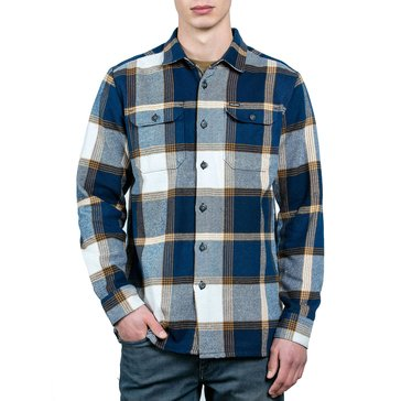 Volcom Men's Heavy Daze Long Sleeve Flannel Plaid Shirt