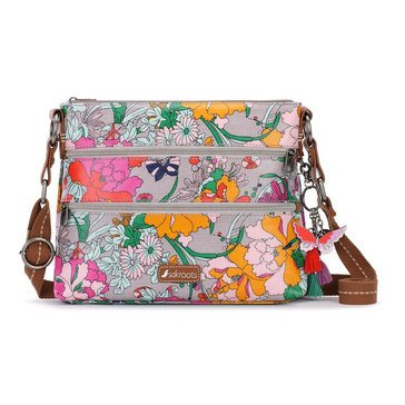Sakroots Basic Crossbody Lilac Flower Power