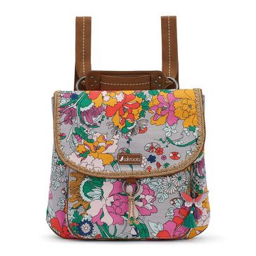 Sakroots Convertible Backpack Lilac Flower Power
