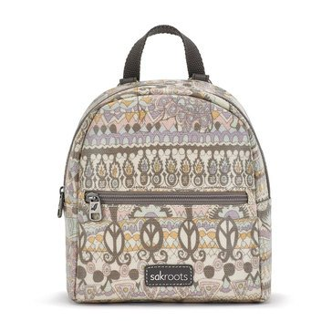 Sakroots Mini Crossbody Backpack Pastel One World