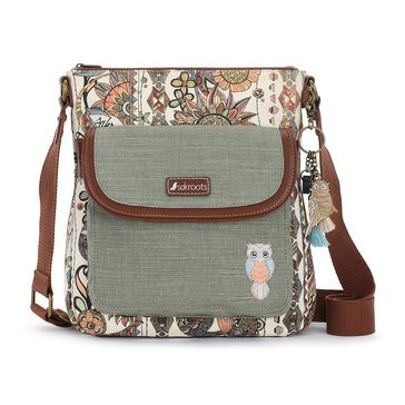 Sakroots Flap Crossbody Cream Spirit Desert