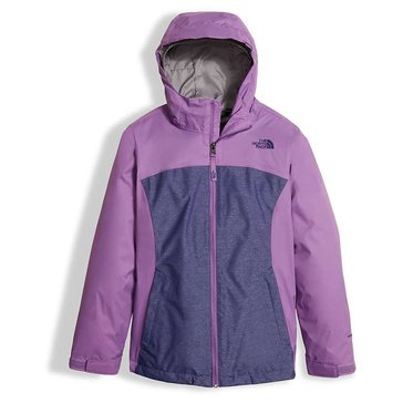 The North Face Big Girls' Osolita Triclimate Jacket, Bellflower Purple