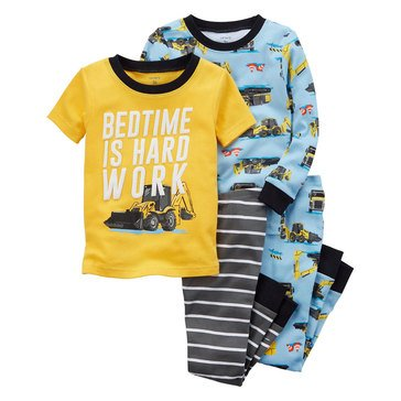 Carter's Baby Boys' 4-Piece Pajamas Set, Construction