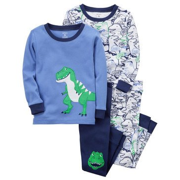 Carter's Baby Boys' 4-Piece Pajamas Set, Dino