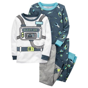 Carter's Baby Boys' 4-Piece Pajamas Set, Space