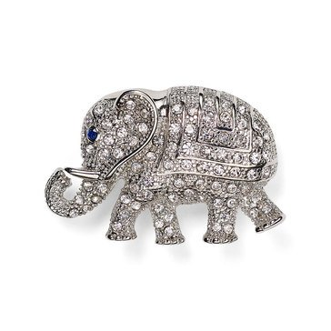 Carolee Boxed Silver Tone Elephant Pin