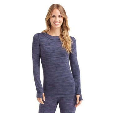 Cuddl Duds Flexfit Crew Navy Spacedye