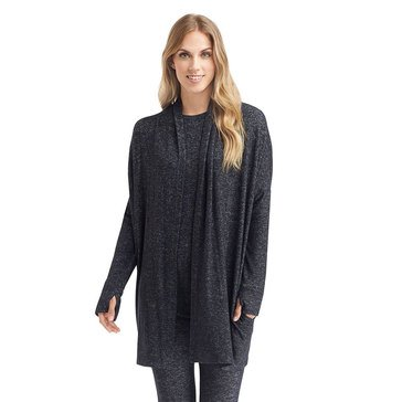 Cuddl Duds Soft Knit Wrap Dark Charcoal