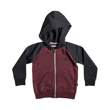 Quiksilver Little Boys' Everday Zip Hoodie, Red