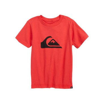 Quiksilver Little Boys' Logo Tee, Red