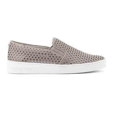 Michael Kors Keaton Slip On Vach Star Perf Mirror Metallic Pearl Grey