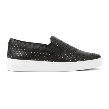 Michael Kors Keaton Slip On Vach Star Perf Mirror Metallic Black