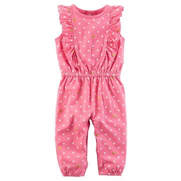 Carter's Baby Girls' Flutter Sleeve Jumpsuit