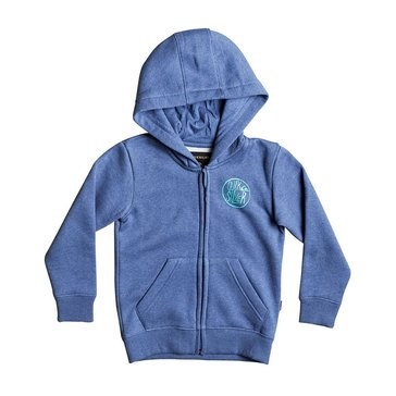 Quiksilver Little Boys' Sagu Zip Hoodie, Blue