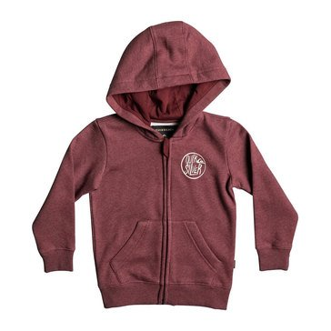 Quiksilver Little Boys' Sagu Zip Hoodie, Red