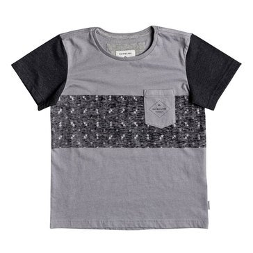 Quiksilver Little Boys' Pogwa Knit Tee, Grey