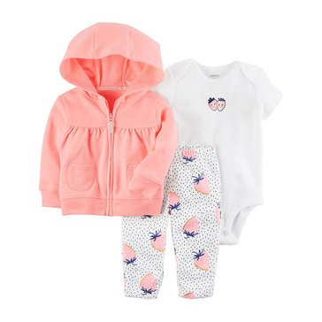 Carter's Baby Girls' 3-Piece Cardigan Set, Totally Cute