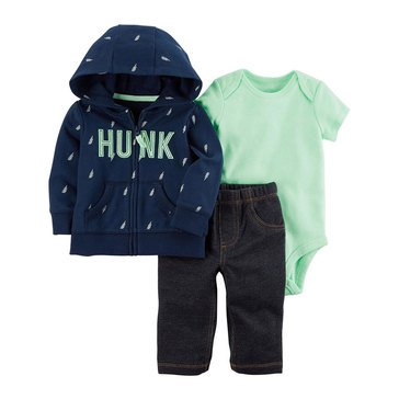 Carter's Baby Boys' 3-Piece Cardigan Set, Hunk
